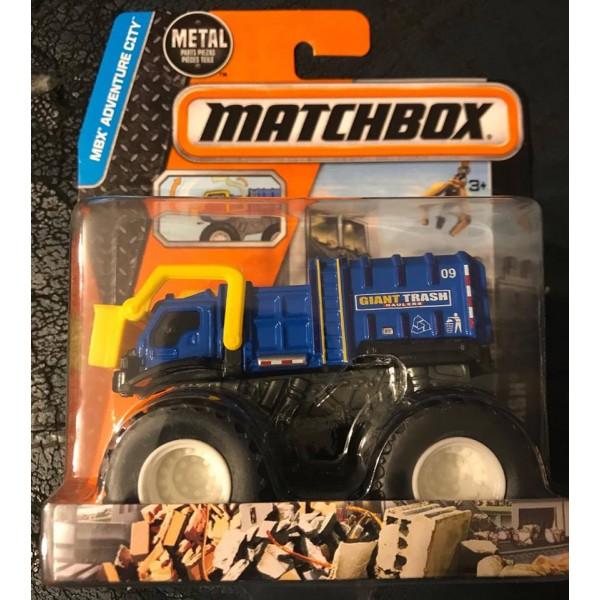 2015 Matchbox MBX Adventure City Trash U0026 Bash Monster Truck