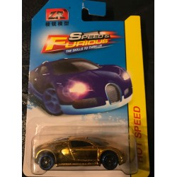 Faster Car Bugatti Veyron - Black/Blue Lip PR5 Wheels