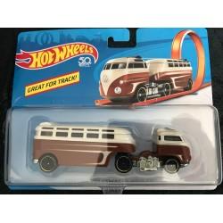 Track Stars Custom Volkswagen Hauler - Brown/White